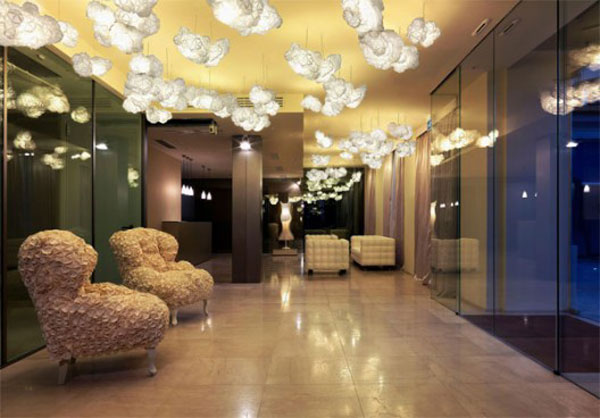 Moschino lobby - commercial wallcoverings