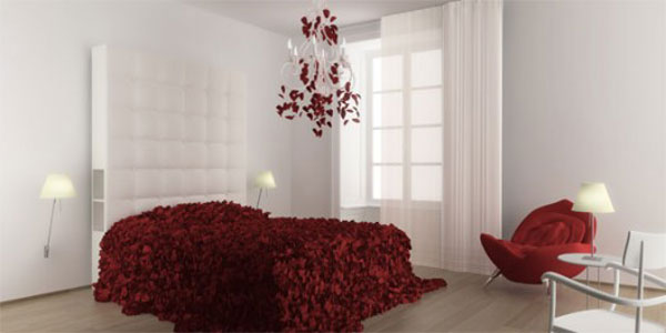 Moschino bed of roses - commercial wallcoverings