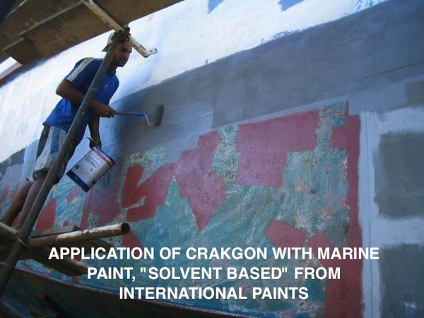 CRAKGON waterproof seal application commences