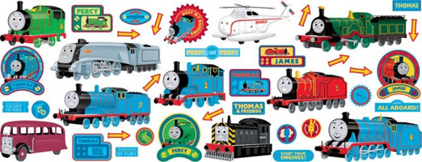 Thomas the Tank engine stikarounds - kids wallstickers