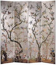 room divider with wallpaper