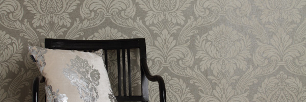 Vogue commercial wallcoverings collection by Newmor -Damascene
