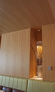 Wood on Wall -WOW timber veneer wallcoverings by Gilford