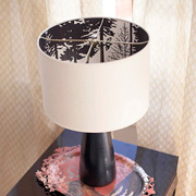 Wallpaper can even be used inside lampshades