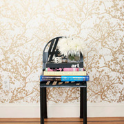 Wallpaper with a metallic sheen can transform a room