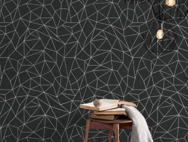 Newmor GeometricsLines Black Room 700x700