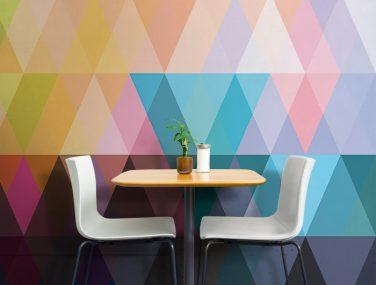 Newmor GeometricsTriangles Vibrant room 700x700
