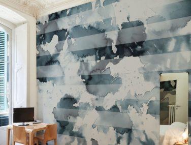 Newmor Watercolour Stripe Room