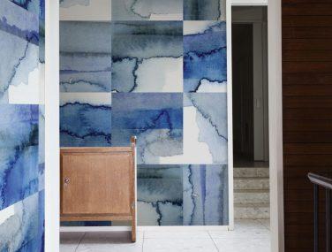 Newmor Watercolour Tile Original Blues 1