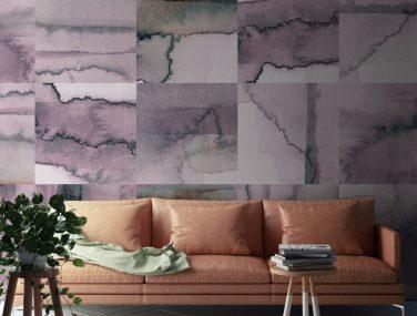 Newmor Watercolour Tile Pink 1