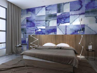 Newmor Watercolour Tiles Worn Blues 1