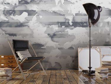 Newmor Watercolour stripe grey