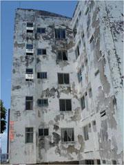 Vivian Regina damaged wall