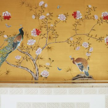 China Classic Collection Chinese garden with peacock Kempinski Hotel Francoforte